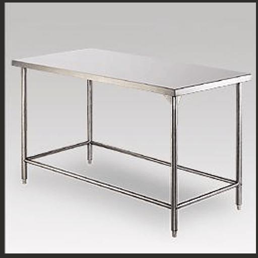 meja stainless dengan crossbar