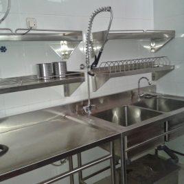Double Sink w/ Pre Rinse