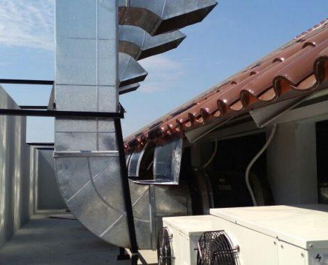instalasi cerobong asap dengan menggunakan ducting line